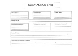 Daily Action Sheet