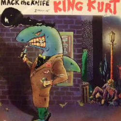 Cartoon image of Mack the Knife as a shark