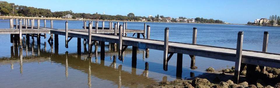 Mandurah Foreshore at low tide