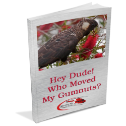 Hey Dude! Who Moved My Gumnuts is an epic story of the plight of black cockatoos and teaches children about conservation and the different foods black cockatoos need.
