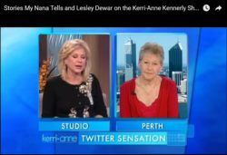 Before Stories My Nana Tells was launched, Lesley Dewar was on the Kerri-Anne Kennerley Show