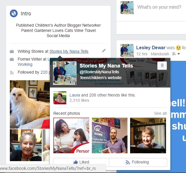 Whenever someone hovers over the link to your Facebook business page, it will be displayed.