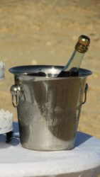 Degustation events keep the wine off the table and in an ice bucket