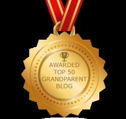 Top 50 Grandparent Blog award