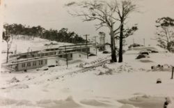Blue lived at Eucumbene Portal, and faced winter blizzards
