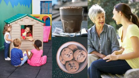 Parents can enjoy a chat and a coffee, while their children are entertained for an hour.