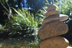 Stacking rocks is very bad for our wildlife, who need them for shelter