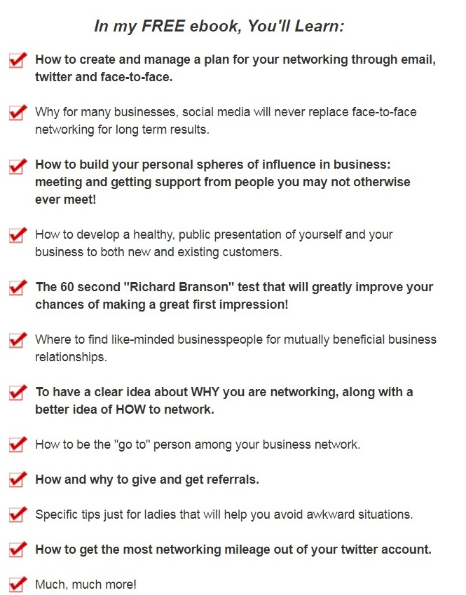The key points for successful networking