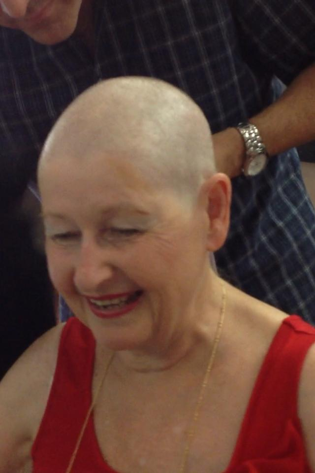 Lesley-head-shave-done - Stories My Nana Tells