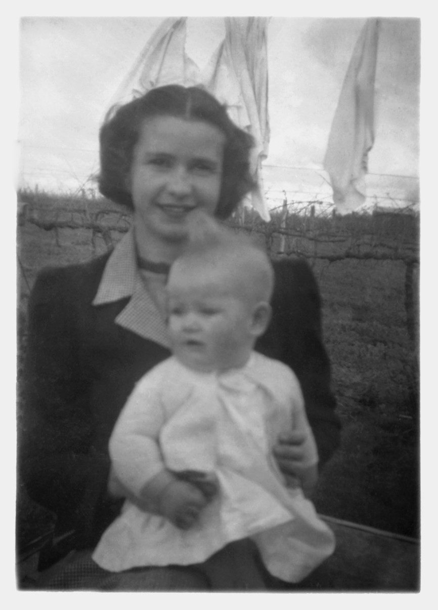 Lesley with her Mum, when she was about six months old.