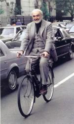 Sean Connery-on-a-bike