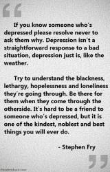 Stephen Fry - depression