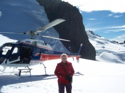In New Zealand, we landed on a glacier before heading off over the Incredibles to Milford Sound.